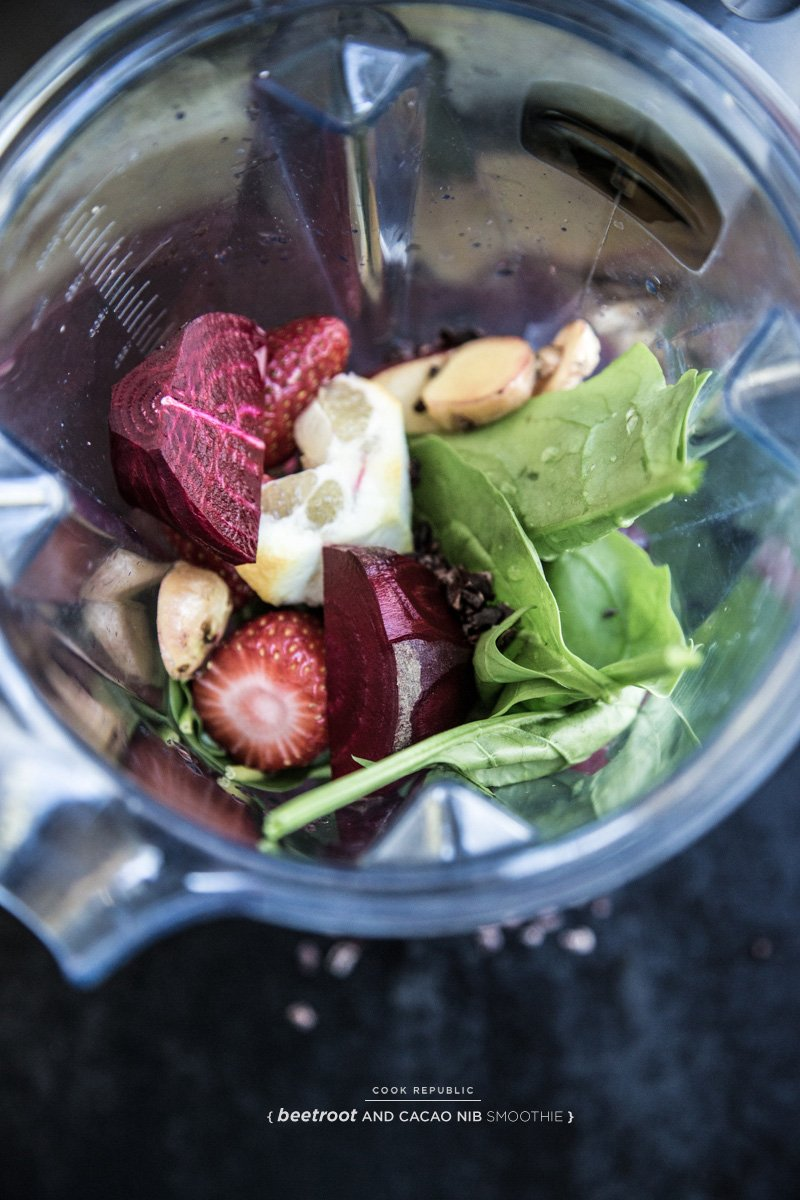 Beetroot And Cacao Nib Smoothie