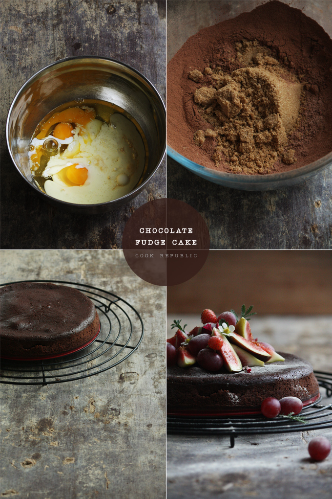 Baking Chocolate Fudge Brownie Cake - Cook Republic
