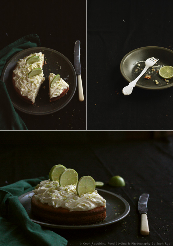 Coconut Lime Cake With Rum Frosting & Fresh Lime