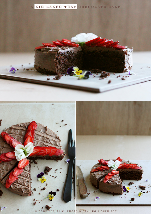 A Kid-Baked-That Chocolate Cake