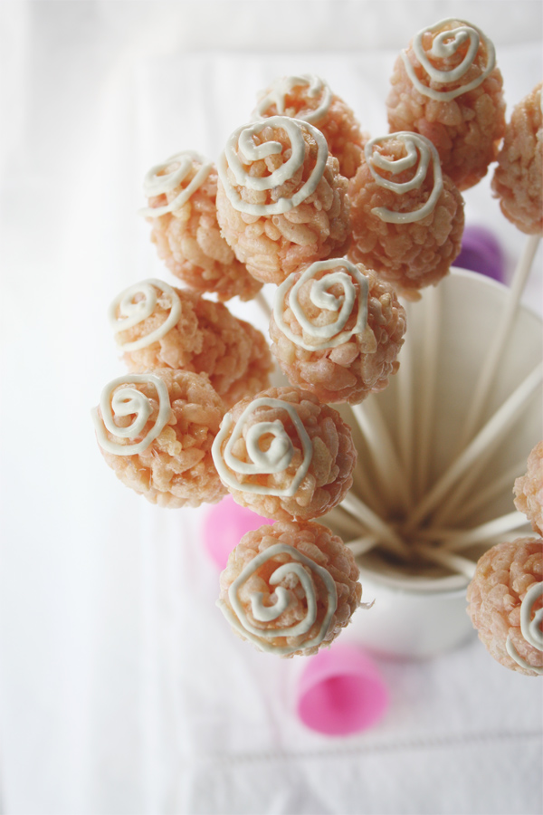 Rice Krispie And Marshmallow Pops