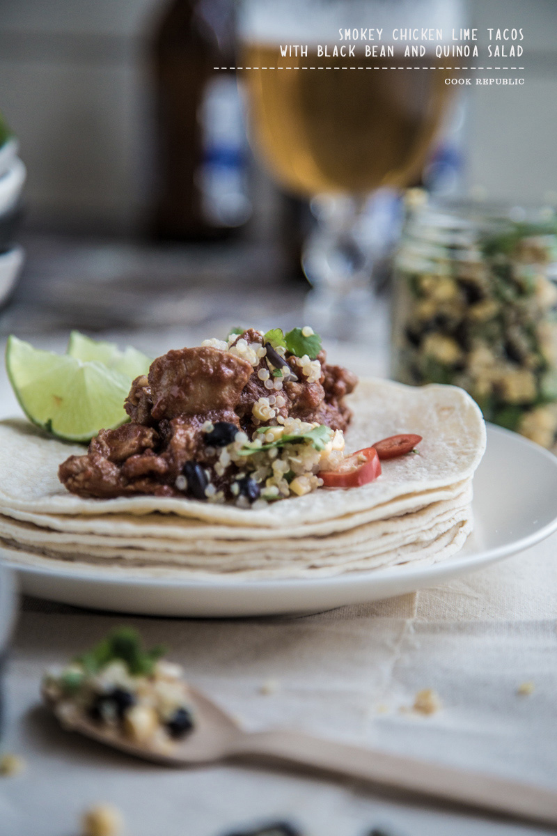 Smokey Chicken Lime Tacos - Cook Republic