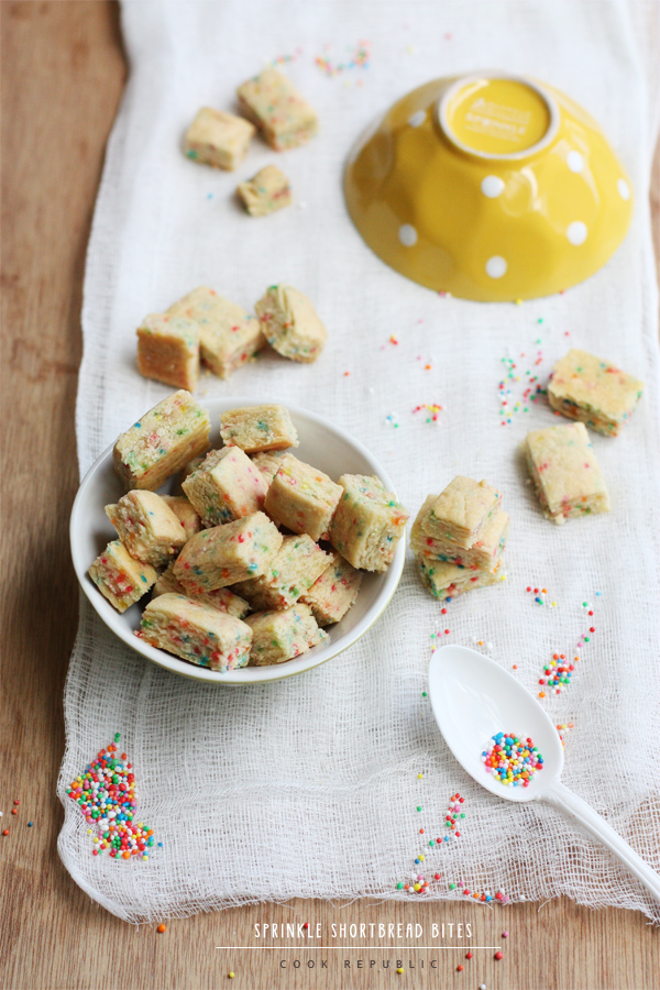 Sprinkle Shortbread Bites - Cook Republic