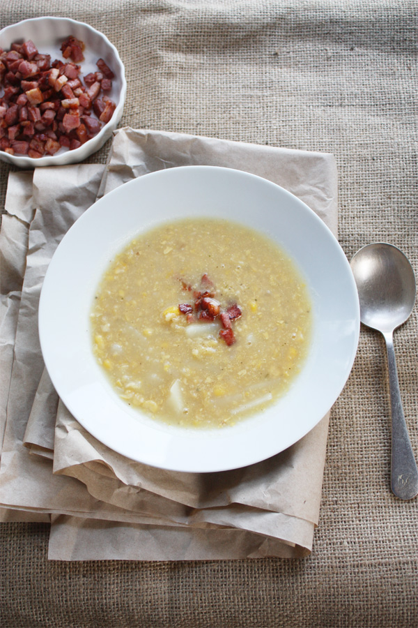 Brown, Rustic, Bacon & Chowder
