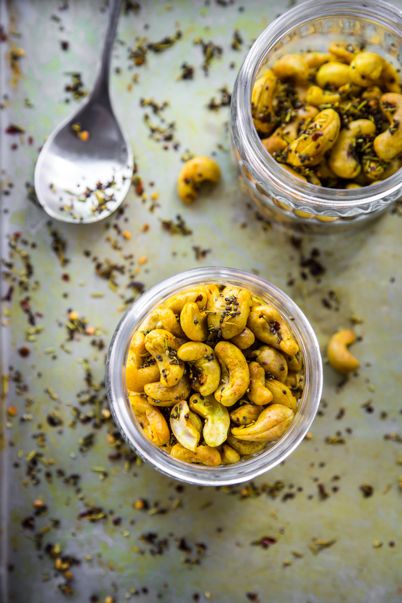 Turmeric Roasted Cashews With Chia - Cook Republic