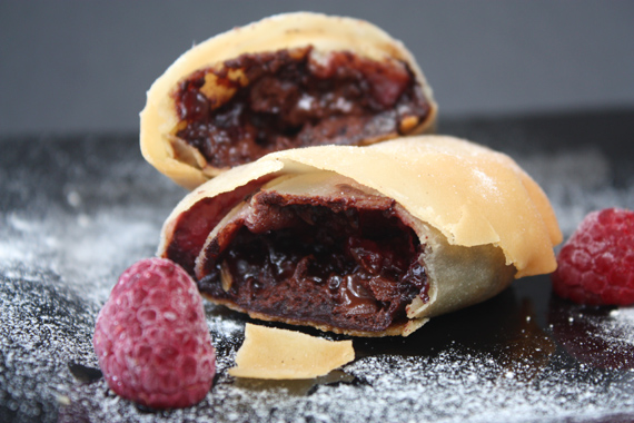 Chocolate Raspberry Strudel