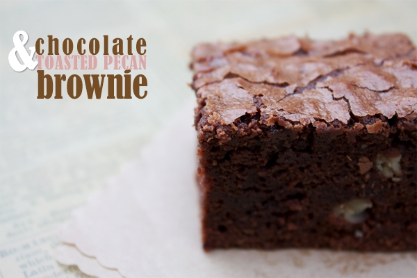 Chocolate And Toasted Pecan Brownie