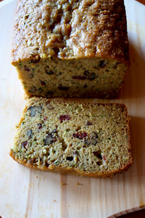 Loaf of Cranberry, Zucchini And Walnut Bread