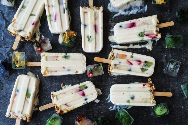 Yoghurt Granola And Honey Popsicles - Cook Republic