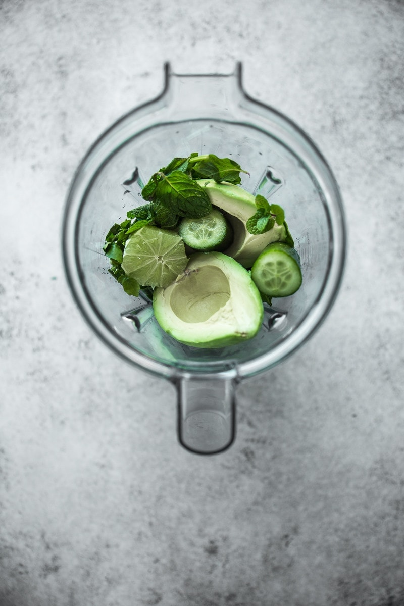 Avocado Watercress And Lime Smoothie - Cook Republic #vegan #glutenfree #greensmoothie