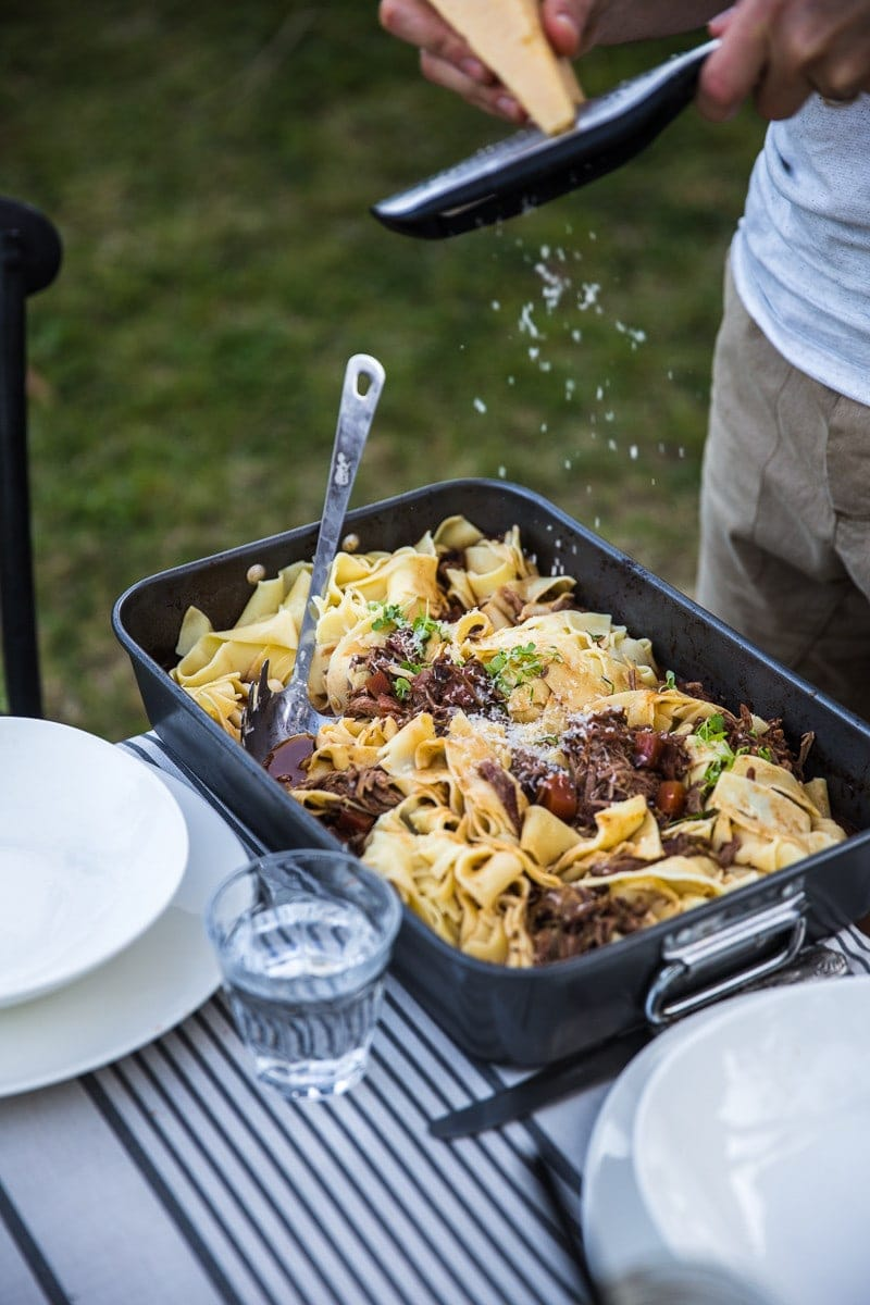 Slow Cooked Sticky Leg Of Lamb Ragu With Pappardelle - A Spring Garden Gathering/ Cook Republic