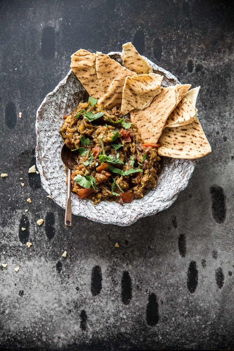 Smoky Eggplant Curry Dip - Cook Republic
