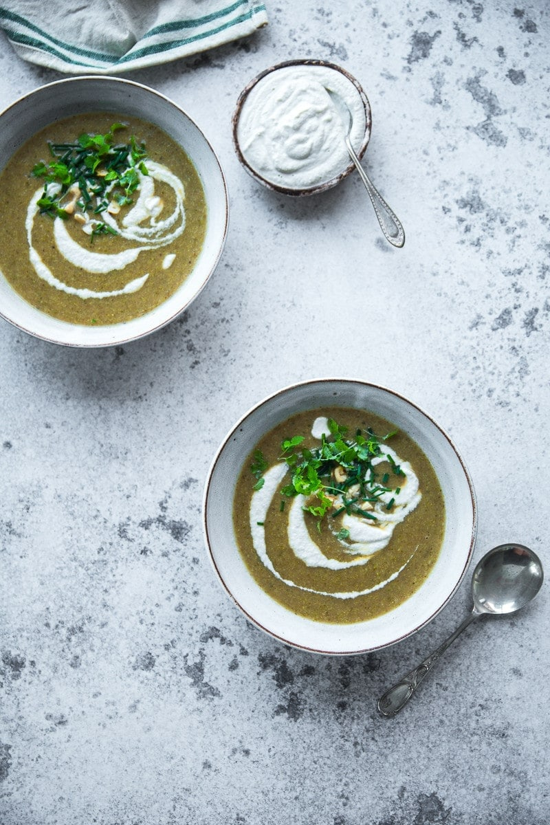 Vegan Broccoli Soup With Cashew Cream - Cook Republic