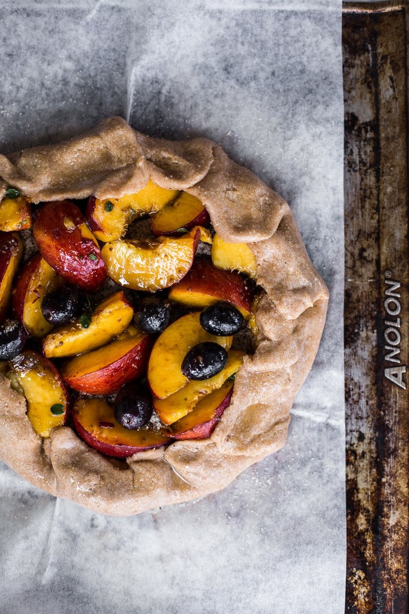 Peach Grape And Thyme Galette - Cook Republic