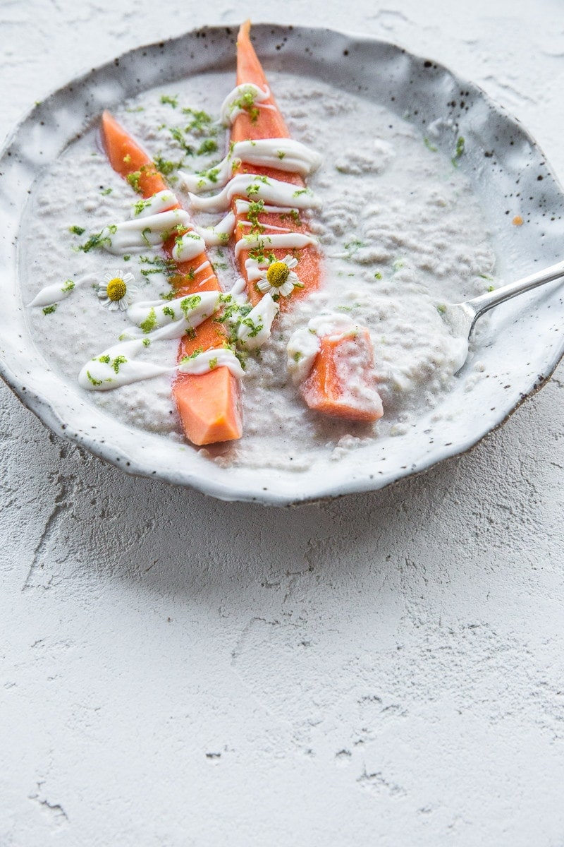 Ginger Chia Pudding With Papaya And Lime - Cook Republic