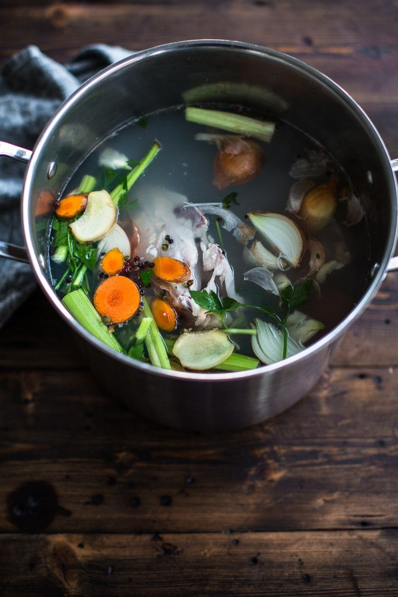 Turmeric Chicken Broth - Sundays at Cook Republic