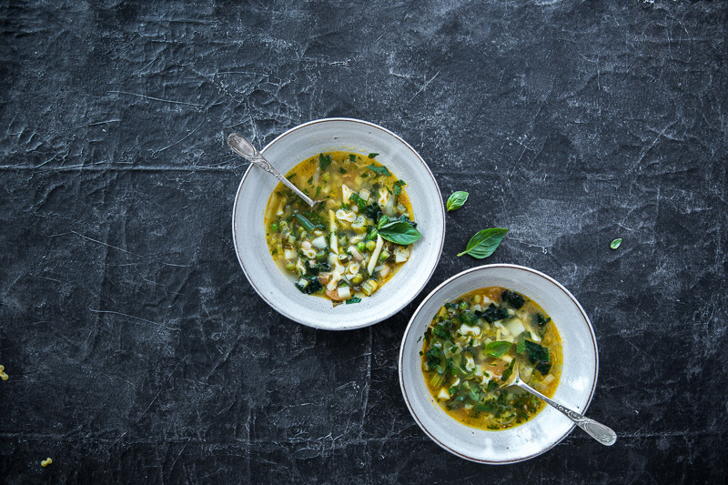Green Minestrone Soup - Cook Republic #vegan #dinnerideas