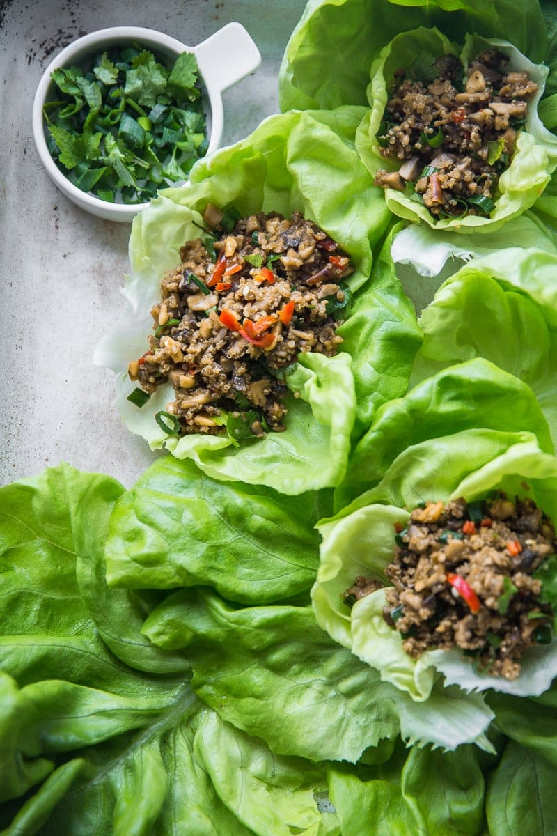 Vegan Quinoa And Mushroom San Choy Bow - Cook Republic